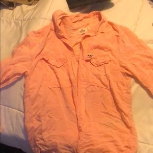 Pink button up/flannel